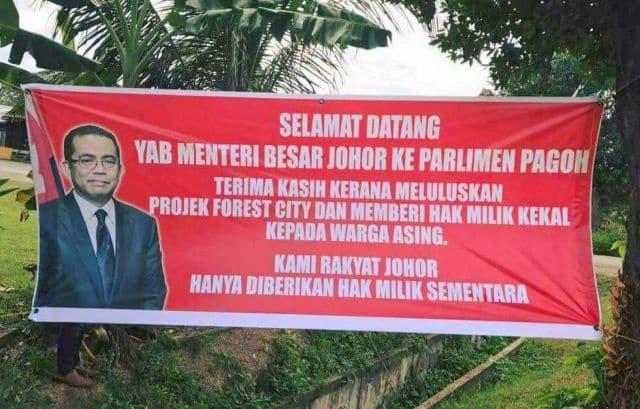 Rakyat Johor protes Forest City dapat hak milik kekal