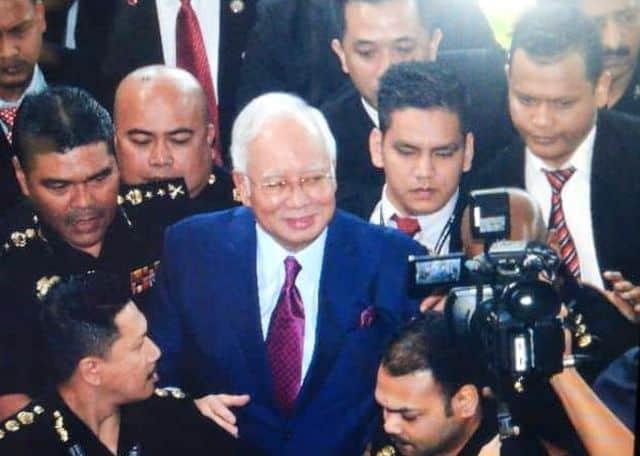Najib hadir di mahkamah Kuala Lumpur hari ini