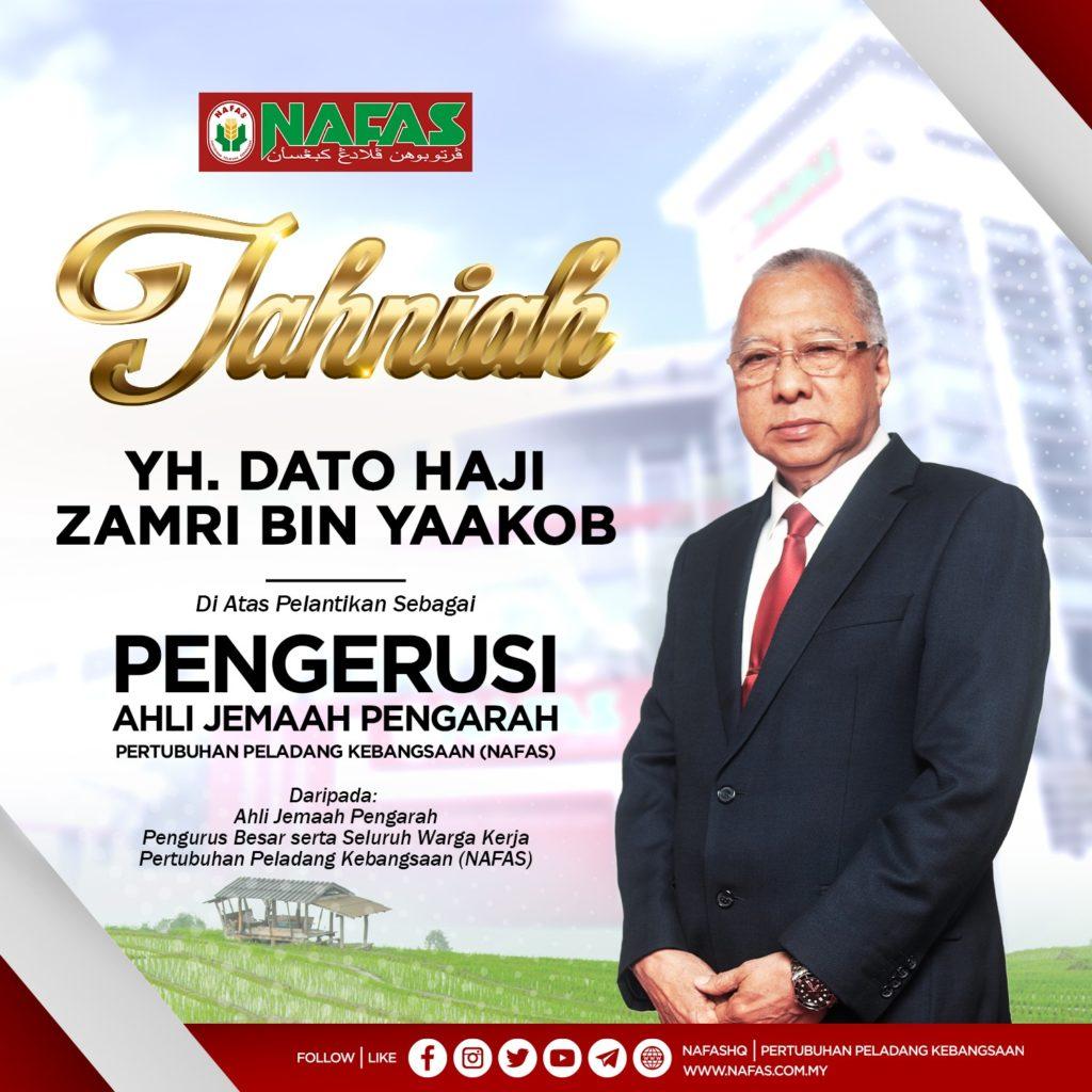 Abang Ismail Sabri dilantik pengerusi NAFAS yang baharu