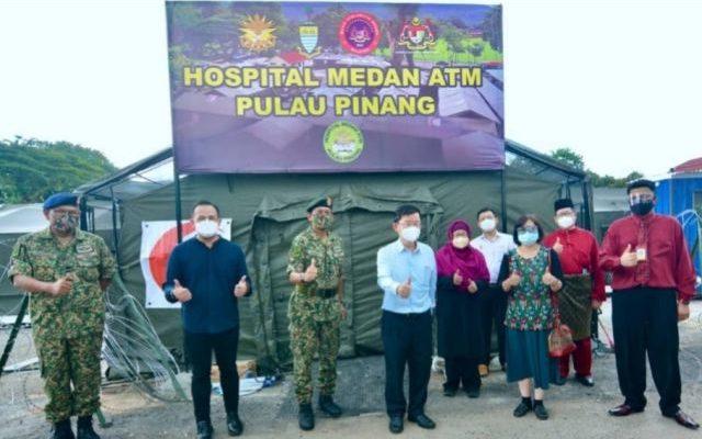 Anggota tentera berjaya siapkan Hospital Medan Pulau Pinang dalam tempoh 10 hari.